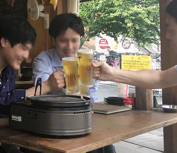 立川唯一の<br>時間無制限飲み放題ビアガーデン!