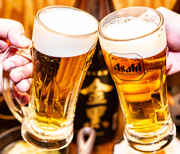 飲み放題は約50種類以上<br>宴会時間無制限!